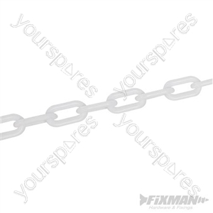 Plastic Chain White - 6mm x 5m