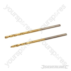 HSS Titanium-Coated Drill Bits 2pk - 1.5mm