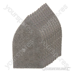 Hook & Loop Mesh Triangle Sheets 175 x 105mm 10pk - 4 x 40G, 4 x 80G, 2 x 120G