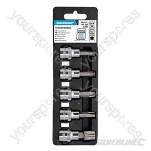 "T40-T60 Socket Set 3/8"" Drive Set 5pce - T40 - T60"