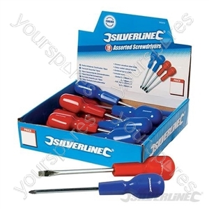 Cabinet Screwdriver Assorted Display Box 18pce - 18pce