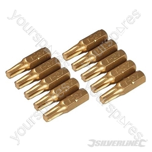Torx Gold Screwdriver Bits 10pk - T27