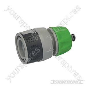 "Soft-Grip Water Stop Hose Quick Connector - 1/2"" Female"