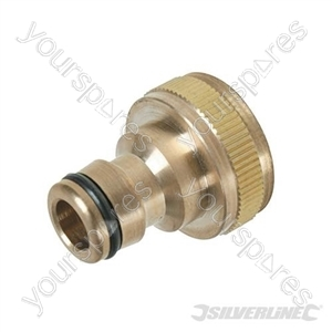 "Tap Connector Brass - 3/4"" BSP - 1/2"" Male"