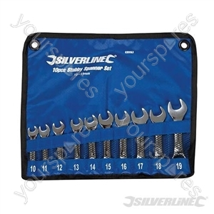 Stubby Spanner Set 10pce - 10 - 19mm