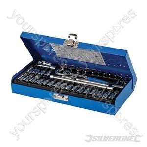 "Socket Wrench Set 1/4"" Drive Metric 38pce - 38pce"