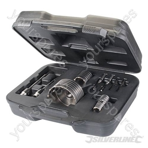 TCT Core Drill Kit 9pce - 30, 50 & 110mm