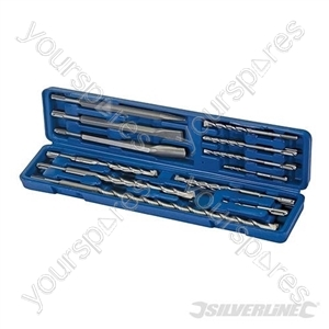 SDS Plus Masonry Drill & Steel Set 12pce - 12pce