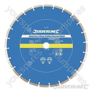 Concrete & Stone Cutting Diamond Blade - 350 x 25.4mm Segmented Rim