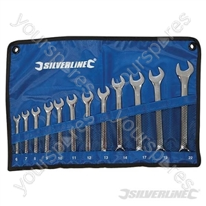 Combination Spanner Set 12pce - 6 - 22mm