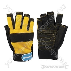 Fingerless Mechanics Gloves - Medium