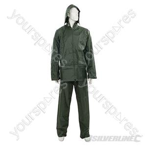 """Rain Suit Green 2pce - L 74 - 130cm (29 - 51"""")"""