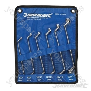 Deep Offset Ring Spanners Set 6pce - 6 - 17mm
