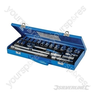 "Socket Wrench Set 1/2"" Drive Metric 21pce - 21pce"