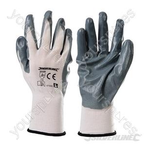 Nylon Nitrile Coat Gloves - Large