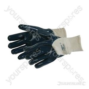 Open Back Jersey Lined Nitrile Gloves - Large