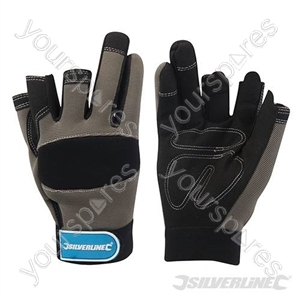 Part Fingerless Mechanics Gloves - Medium