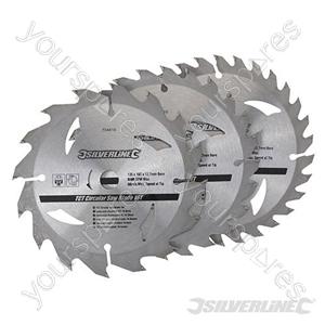 TCT Circular Saw Blades 16, 24, 30T 3pk - 135 x 12.7 - 10mm Ring