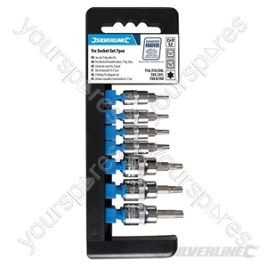 """T10 - T40 Socket Set 1/4"""" & 3/8"""" Drive 7pce - T10 - T40"""