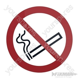 No Smoking Symbol Sign - 100 x 100mm Self-Adhesive