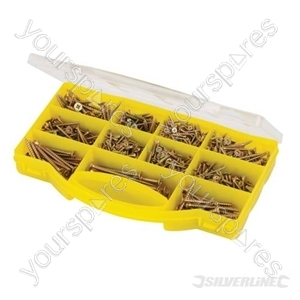 Goldstar Countersink Screws Pack - 780pce