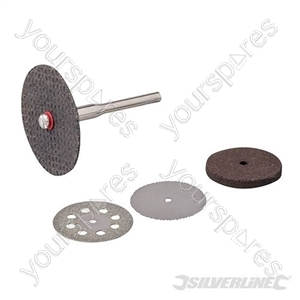 Rotary Tool Cutting & Grinding Disc Set 5pce - 22, 32mm Dia