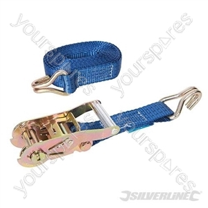 Ratchet Tie Down Strap J-Hook 6m x  38mm - Rated 1000kg Capacity 2777kg
