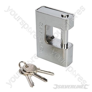 Close Armoured Shutter Lock Padlock - 90mm