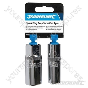 Spark Plug Deep Socket Set 2pce - 1/2""