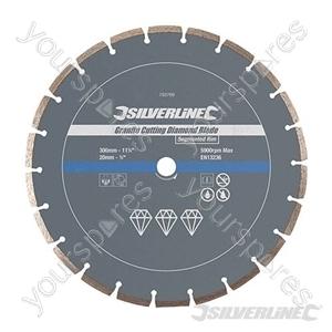 Granite Cutting Diamond Blade - 300 x 20mm Segmented Rim