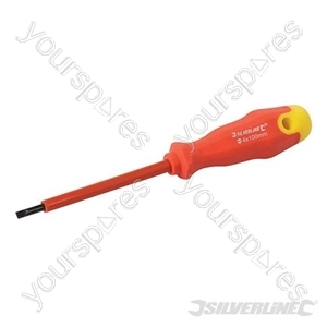 Insulated Soft-Grip Screwdriver Slotted - 4 x 100mm