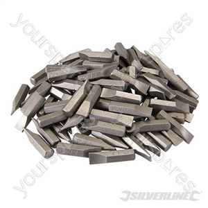 Slotted Cr-V Screwdriver Bits 100pk - Slotted 7mm