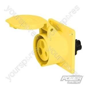 16A Panel Socket - 110V 3 Pin