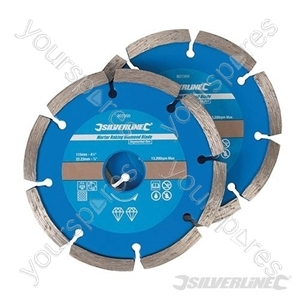 Mortar Raking Diamond Blade 2pk - 115 x 22.23mm Segmented Rim