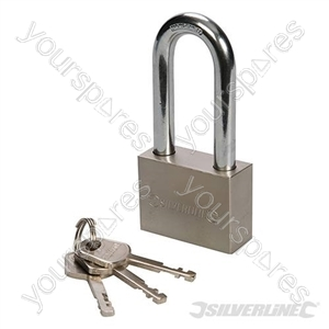 Steel Padlock Long Shackle - 50mm