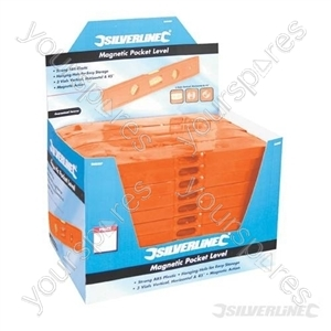 Magnetic Pocket Level Display Box 40pce - 40pce
