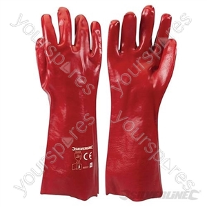 Red PVC Gauntlets - Large