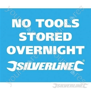 Vehicle Window Stickers - No Tools Stored Overnight' 10pk