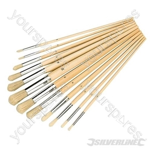 Artists Paint Brush Set 12pce - Round Tips