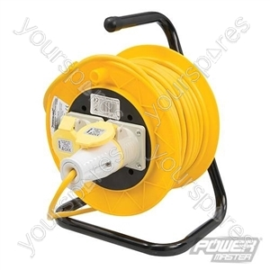Cable Reel 110V Freestanding 2 Socket - 16A 25m