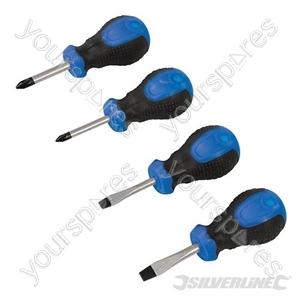 Stubby Screwdriver Set 4pce - 4pce