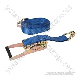 Ratchet Tie Down Strap J-Hook 8m x 50mm - Rated 1300kg Capacity 3900kg