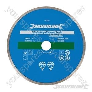 Tile Cutting Diamond Blade - 180 x 22.23mm Continuous Rim