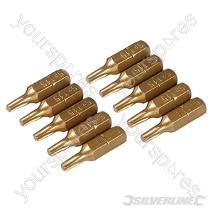 T15 Gold Screwdriver Bits 10pk - T15