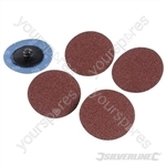 50mm Quick-Change Sanding Discs Set 5pce - 60 Grit
