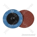 50mm Quick-Change Sanding Discs Set 5pce - 80 Grit