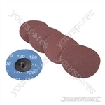 75mm Quick-Change Sanding Discs Set 5pce - 120 Grit