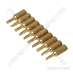 Slotted Diamond Screwdriver Bits 10pk - 3mm