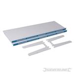 2 Metal Shelves & 4 Shelf Supports - 320mm Metal Shelf 2pk