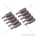 Hex Cr-V Screwdriver Bits 10pk - Hex 3mm